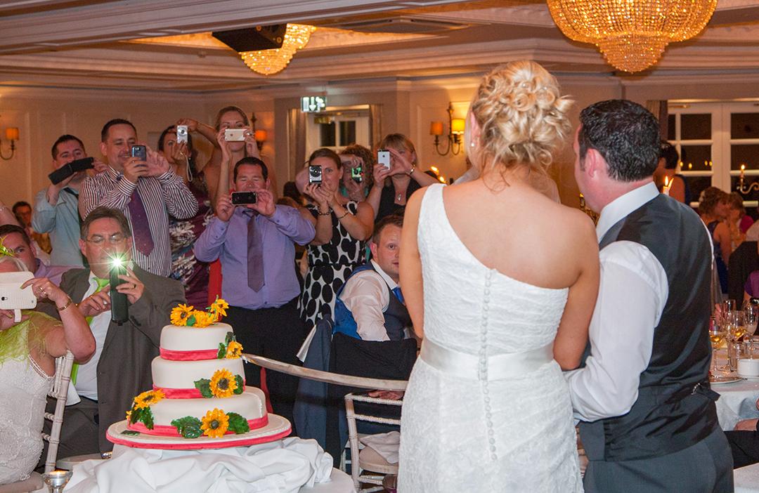 Wedding cake at Bellingham Castle