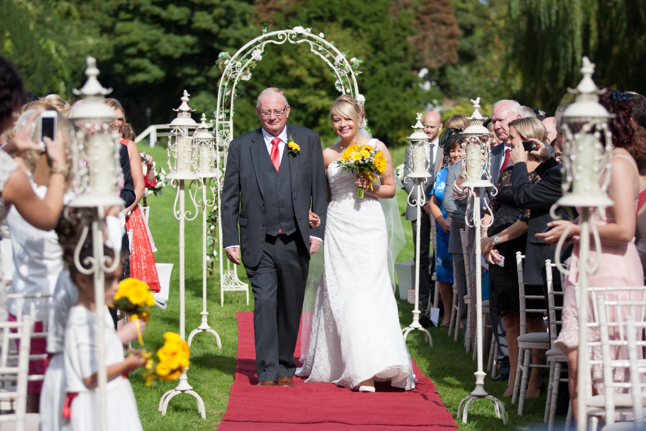 Outdoor Wedding at Bellingham castle